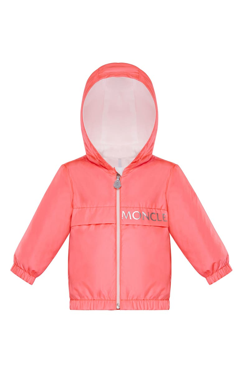 MONCLER Kids' Admeta Logo Hooded Jacket, Main, color, PINK