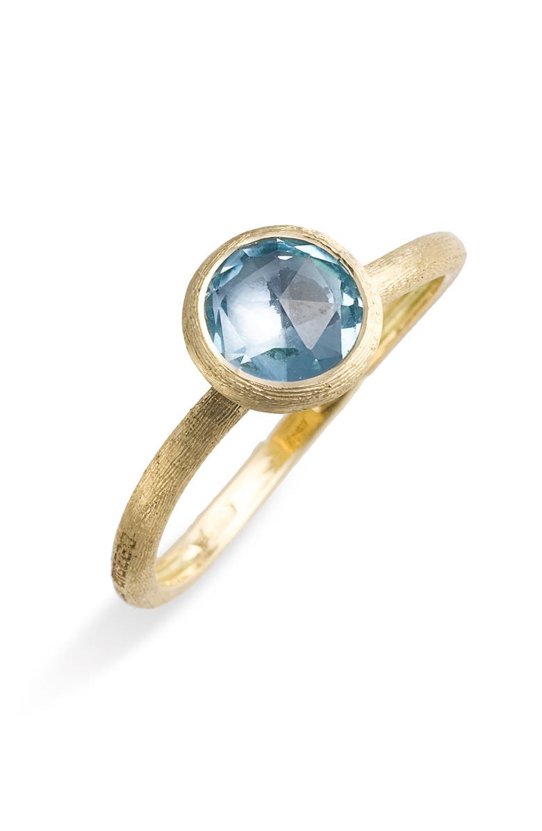 MARCO BICEGO 'Jaipur' Stackable Ring, Main, color, BLUE TOPAZ/ GOLD