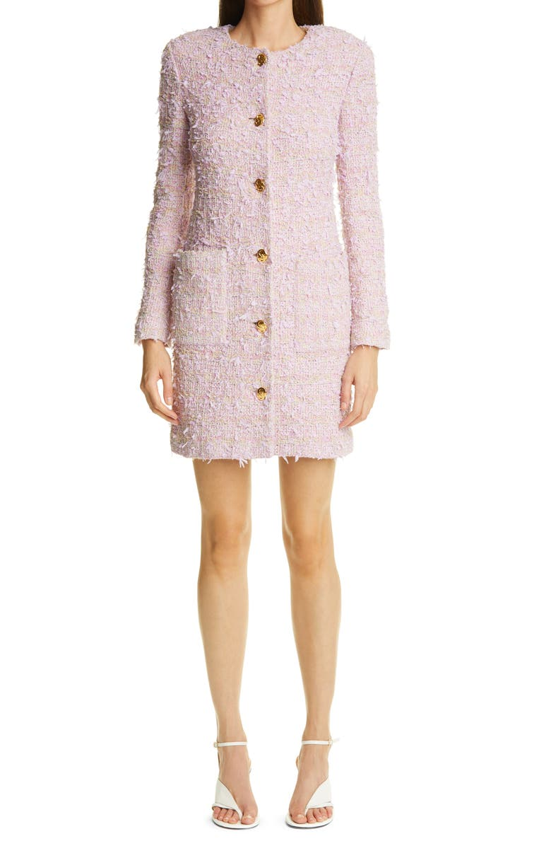 ST. JOHN COLLECTION Tweed Jacket, Main, color, LILAC/ CREAM