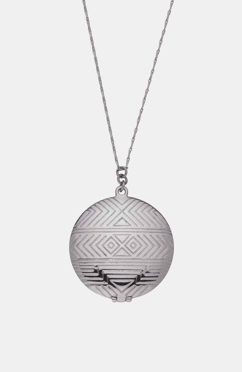 HOUSE OF HARLOW 1960 Medallion Locket Pendant Necklace, Main, color, 040