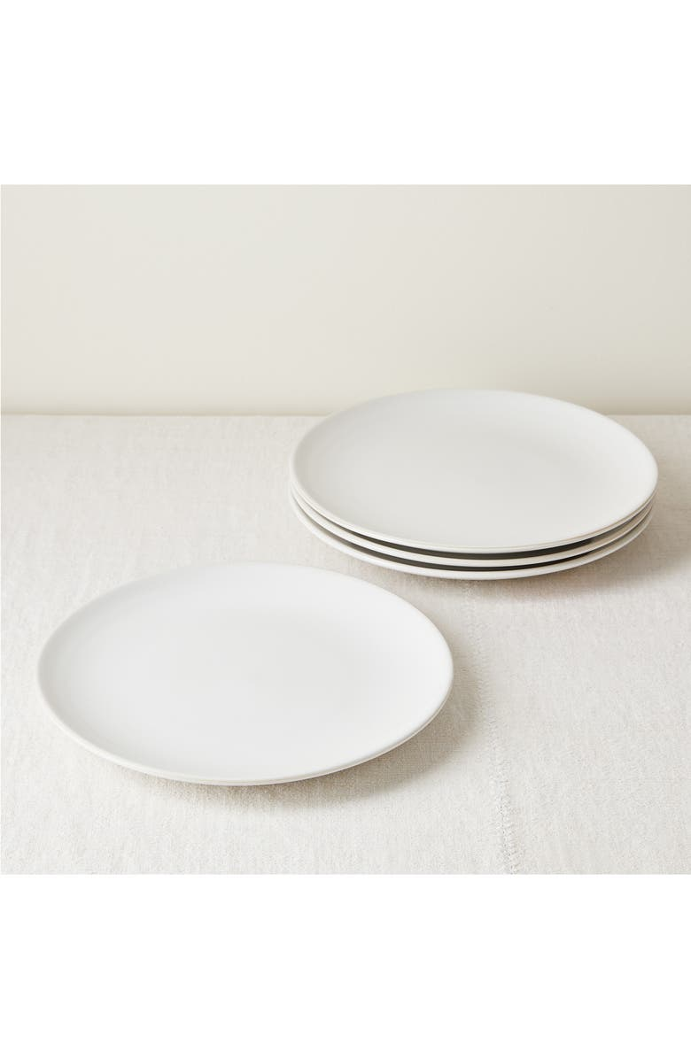 FIVE TWO BY FOOD52 Set of 4 Dinner Plates, Main, color, WHITE
