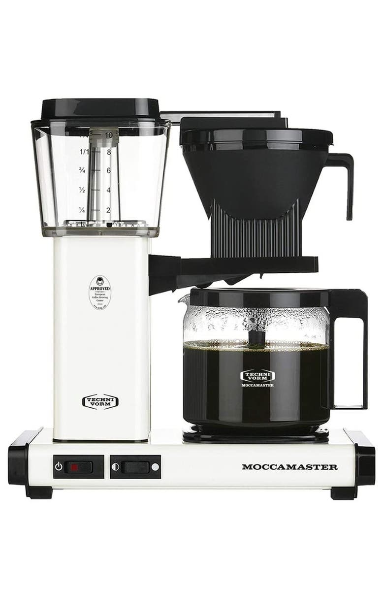 MOCCAMASTER KBG Coffee Brewer, Main, color, OFF WHITE