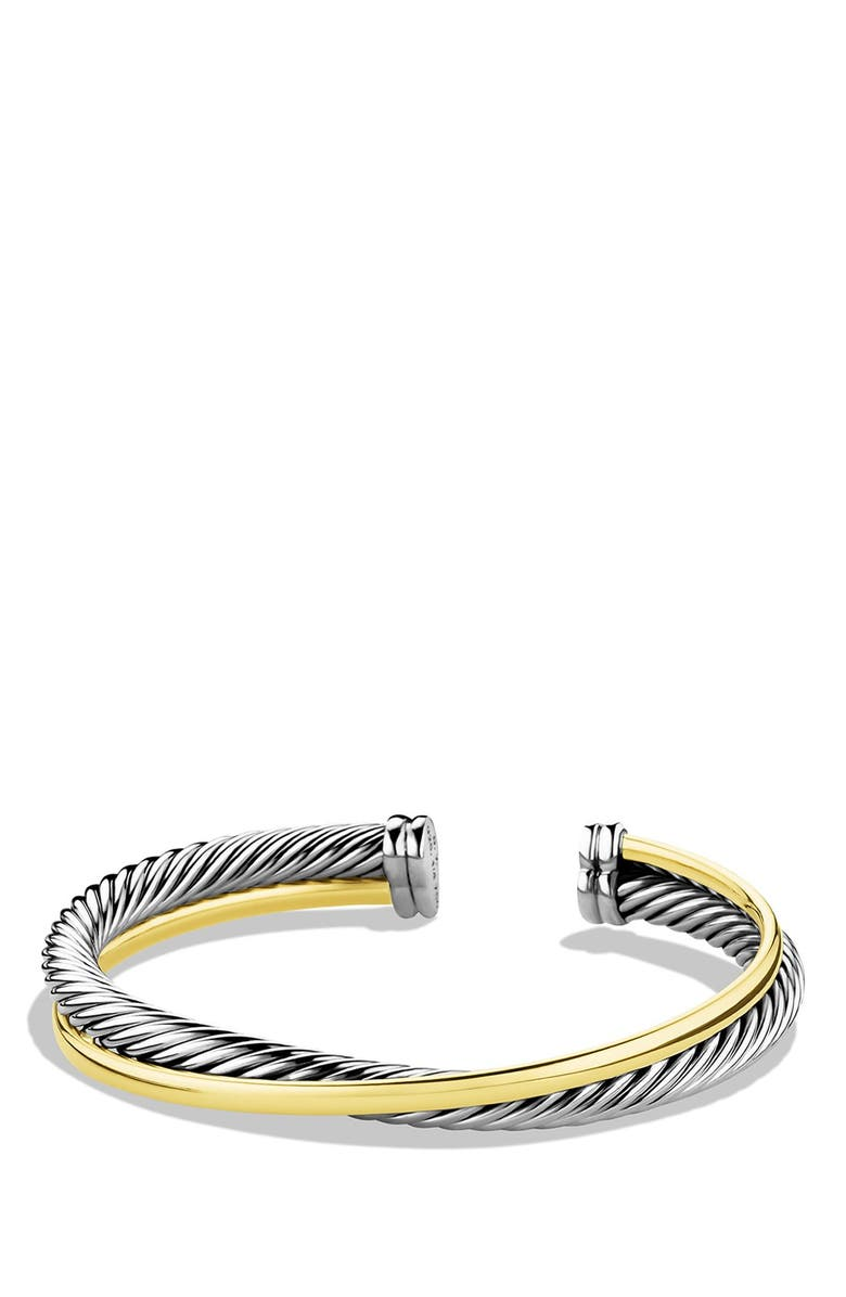 DAVID YURMAN Crossover Cuff with Gold, Main, color, TWO TONE