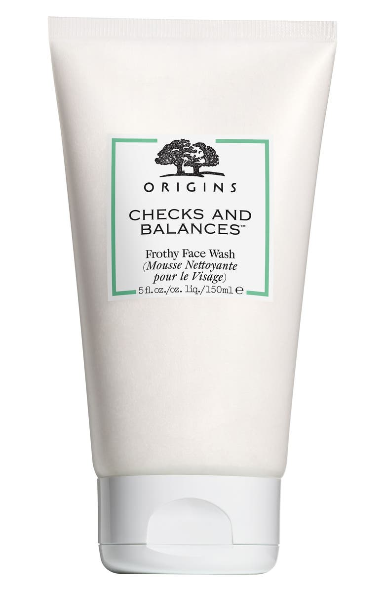 ORIGINS Checks and Balances<sup>™</sup> Frothy Face Wash Cleanser, Main, color, NO COLOR