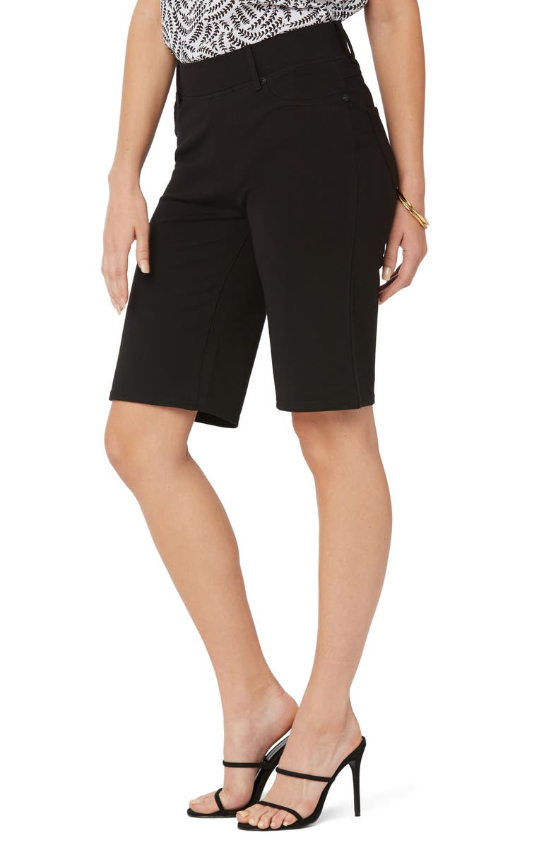 NYDJ Sculpt-Her<sup>™</sup> Ponte Bermuda Shorts, Main, color, JET BLACK