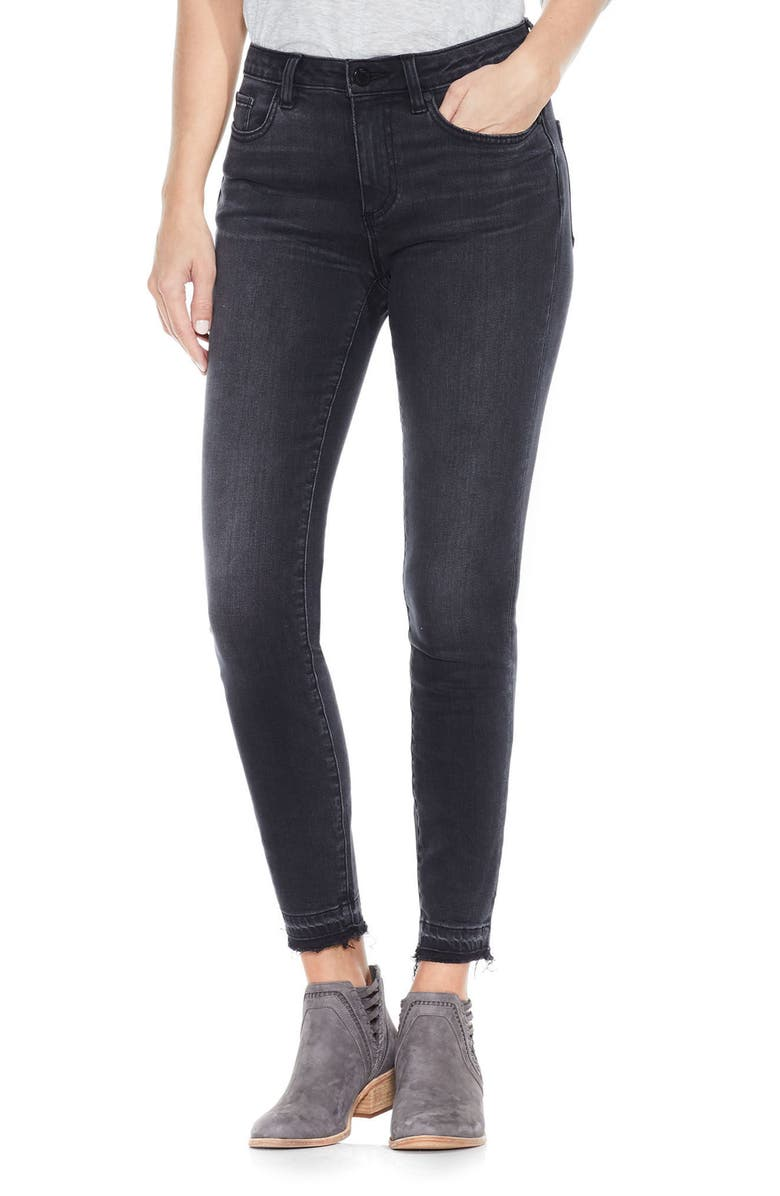 TWO BY VINCE CAMUTO Release Hem Ankle Jeans, Main, color, COAL WASH