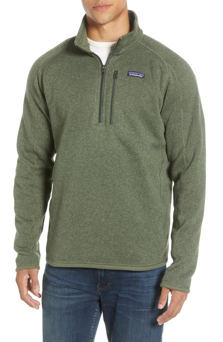 PATAGONIA Better Sweater<sup>®</sup> Quarter Zip Pullover, Main, color, INDUSTRIAL GREEN