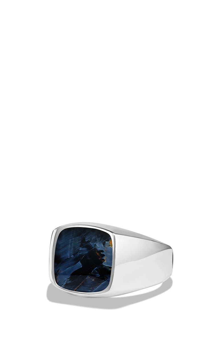DAVID YURMAN 'Exotic Stone' Signet Ring in Silver, Main, color, 021