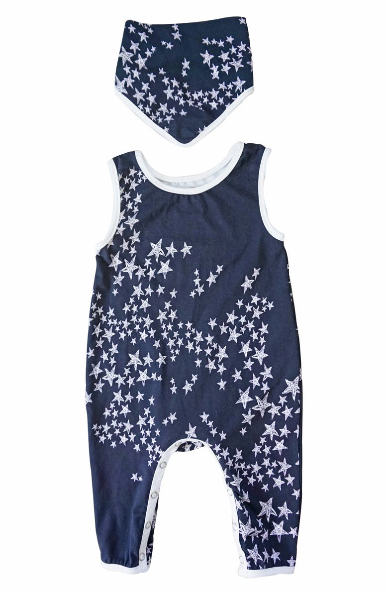 POPATU Stars Long Bodysuit & Bib Set, Main, color, 002