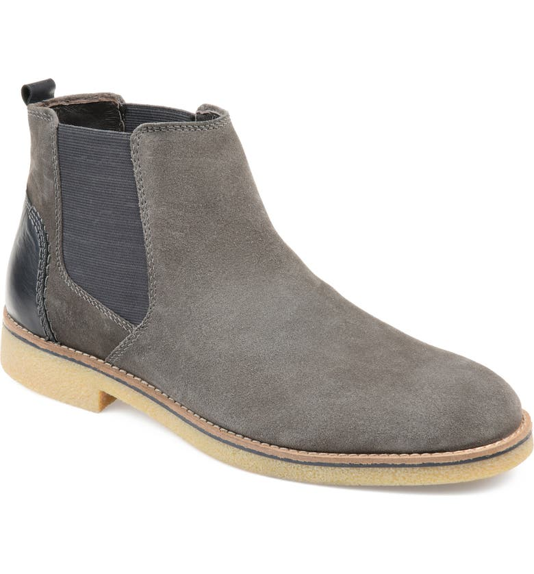 THOMAS & VINE Hendrix Chelsea Boot, Main, color, GREY SUEDE
