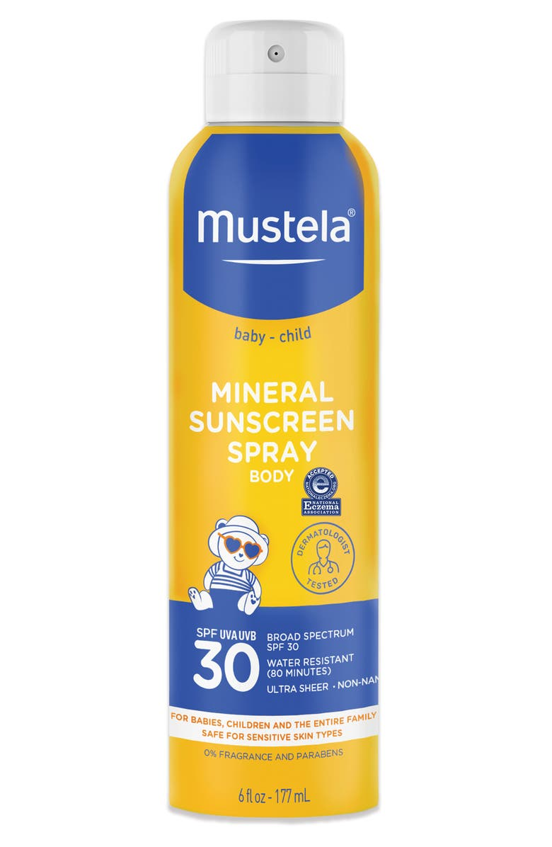 MUSTELA<SUP>®</SUP> SPF 30 Mineral Sunscreen Spray, Main, color, YELLOW