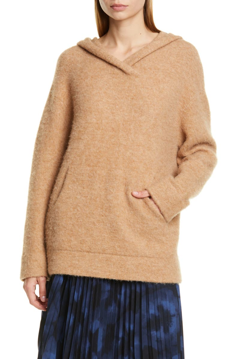 VINCE Oversize Hooded Wool & Alpaca Sweater, Main, color, 200