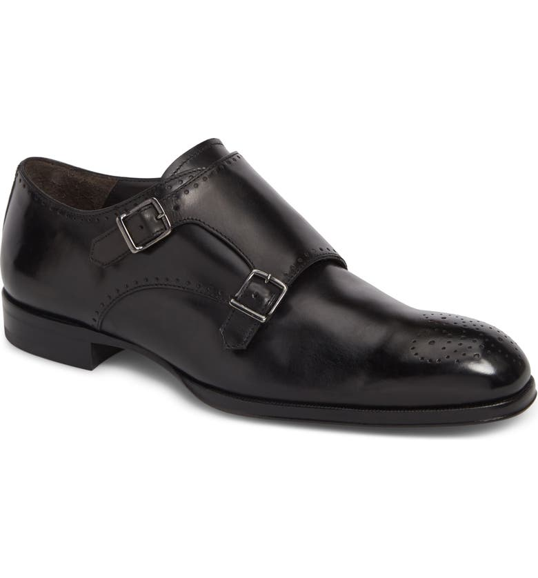 TO BOOT NEW YORK Crown Double Monk Strap Shoe, Main, color, 001