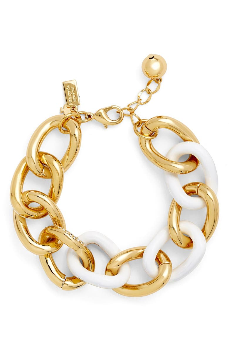KATE SPADE NEW YORK 'chain of events' link bracelet, Main, color, WHITE MULTI