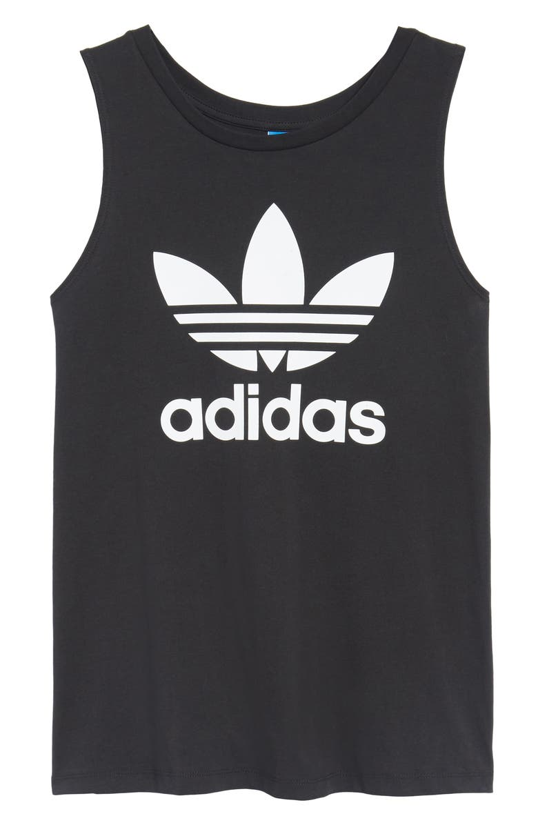 ADIDAS Originals Trefoil Logo Relaxed Fit Tank, Main, color, 001