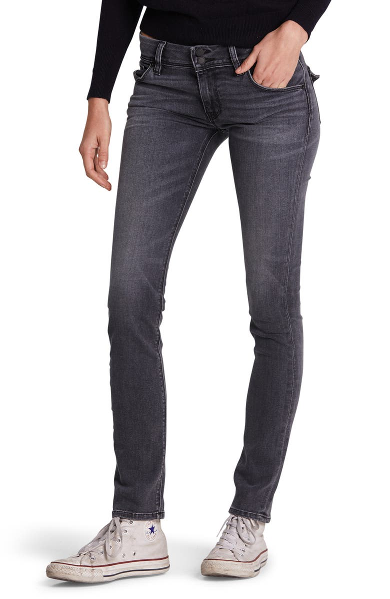 HUDSON JEANS Collin Ankle Skinny Jeans, Main, color, JET FUEL