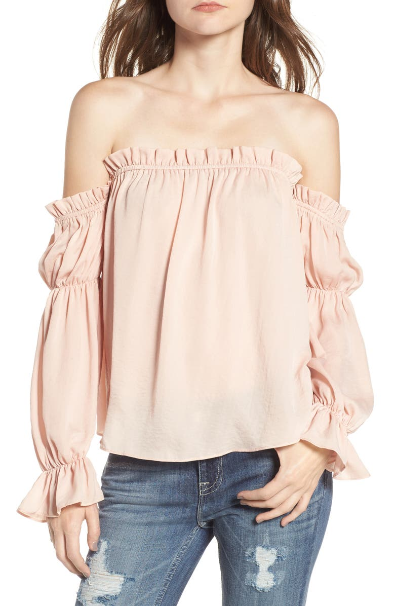 SOPRANO Off the Shoulder Cinched Blouse, Main, color, 650