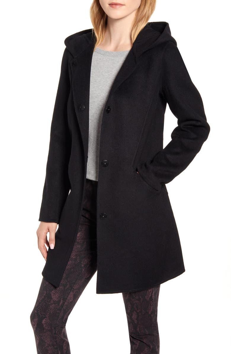 KENNETH COLE NEW YORK Wool Blend Duffle Coat, Main, color, 001
