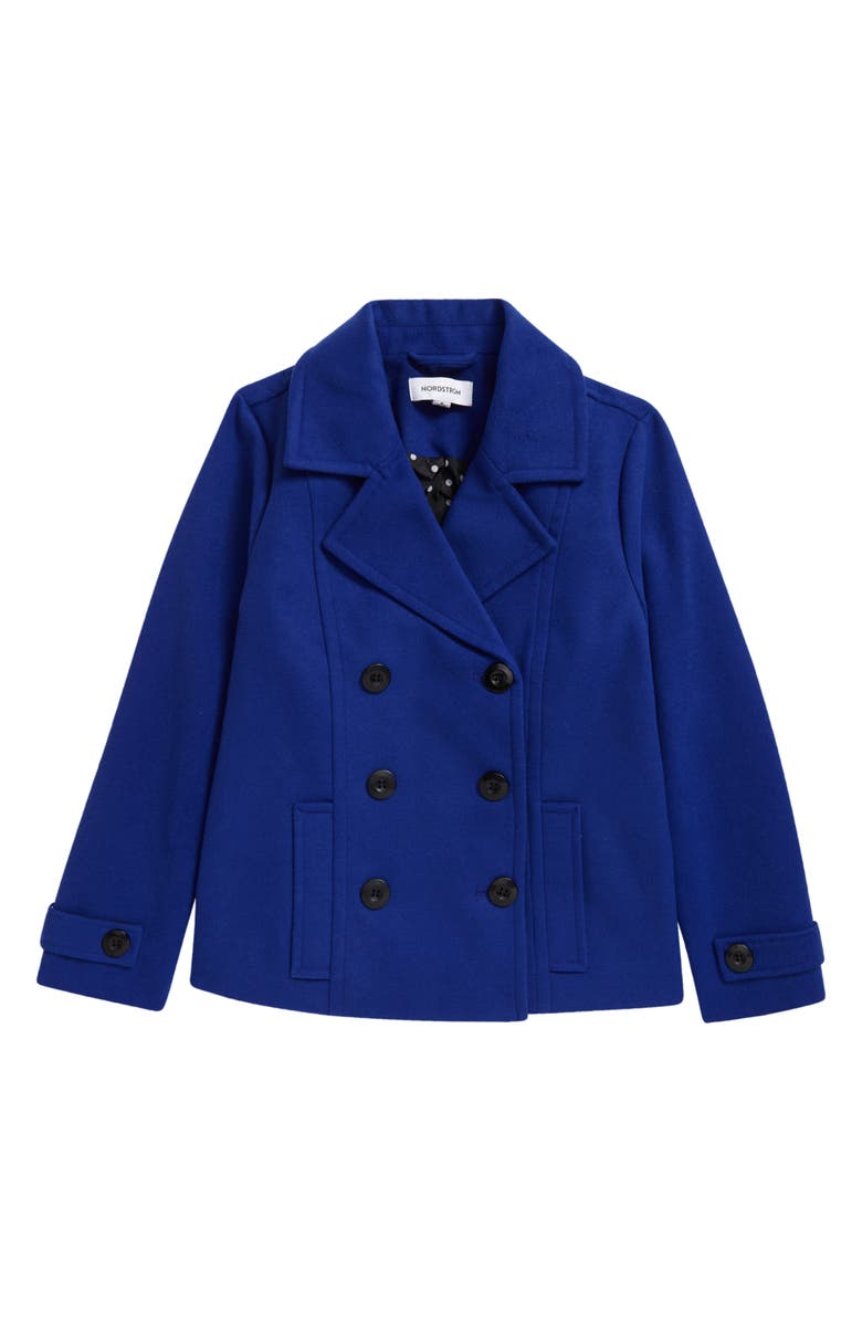 NORDSTROM Peacoat, Main, color, BLUE SURF