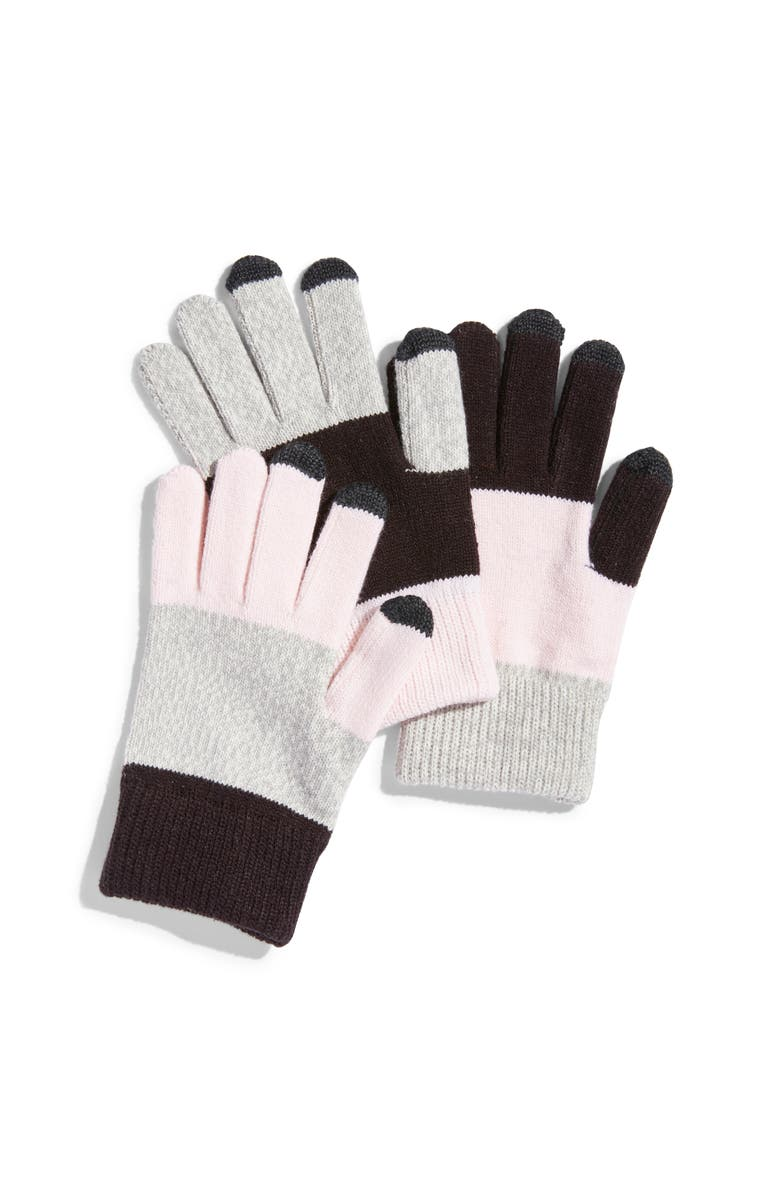 VERLOOP Pair & Spare Set of 3 Touchscreen Gloves, Main, color, 020