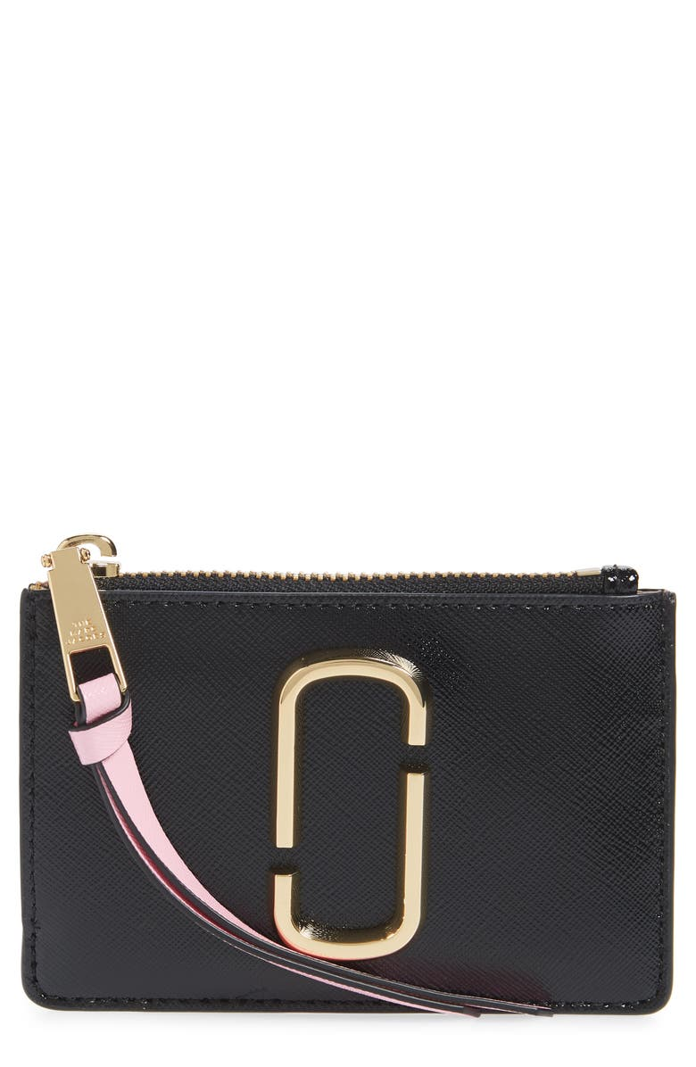 THE MARC JACOBS Snapshot Small Leather Wallet, Main, color, NEW BLACK MULTI