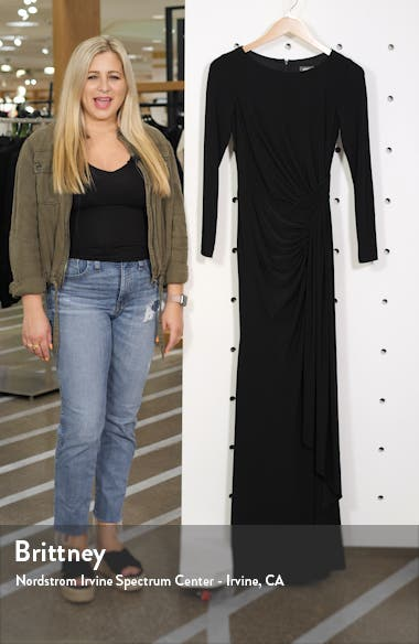 Long Sleeve Ruched Gown, sales video thumbnail