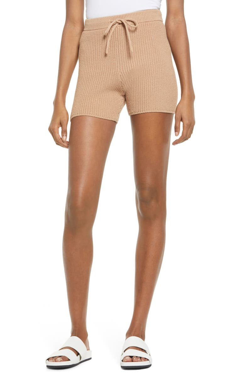 REFORMATION Sanzo Tie Waist Knit Shorts, Main, color, 250