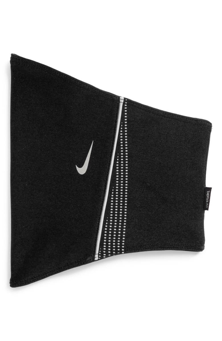 NIKE 'Thermal' Therma-FIT Neck Warmer, Main, color, BLACK/ ANTHRACITE