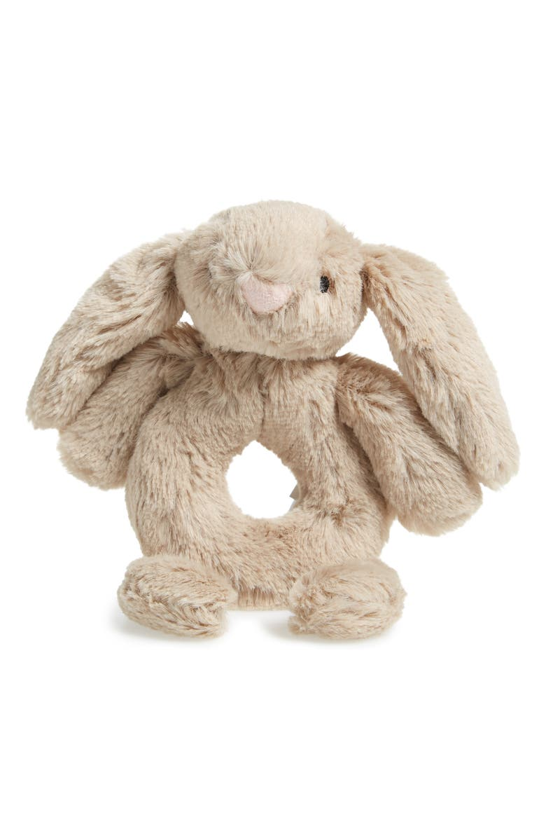 JELLYCAT 'Bashful Bunny' Grabber Rattle, Main, color, 250