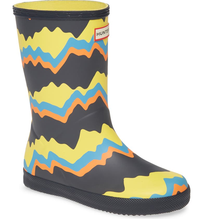 HUNTER Classic Storm Stripe Waterproof Rain Boot, Main, color, 410