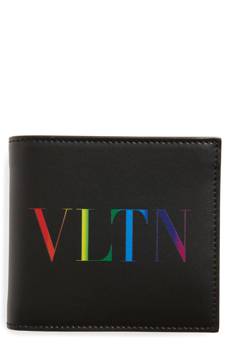 VALENTINO GARAVANI VLTN Leather Bifold Wallet, Main, color, 001