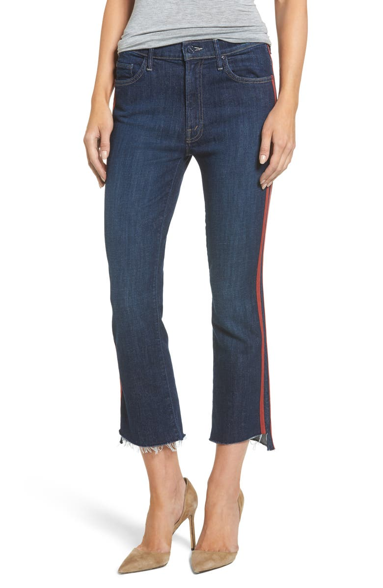 MOTHER 'The Insider' Crop Step Fray Jeans, Main, color, 402