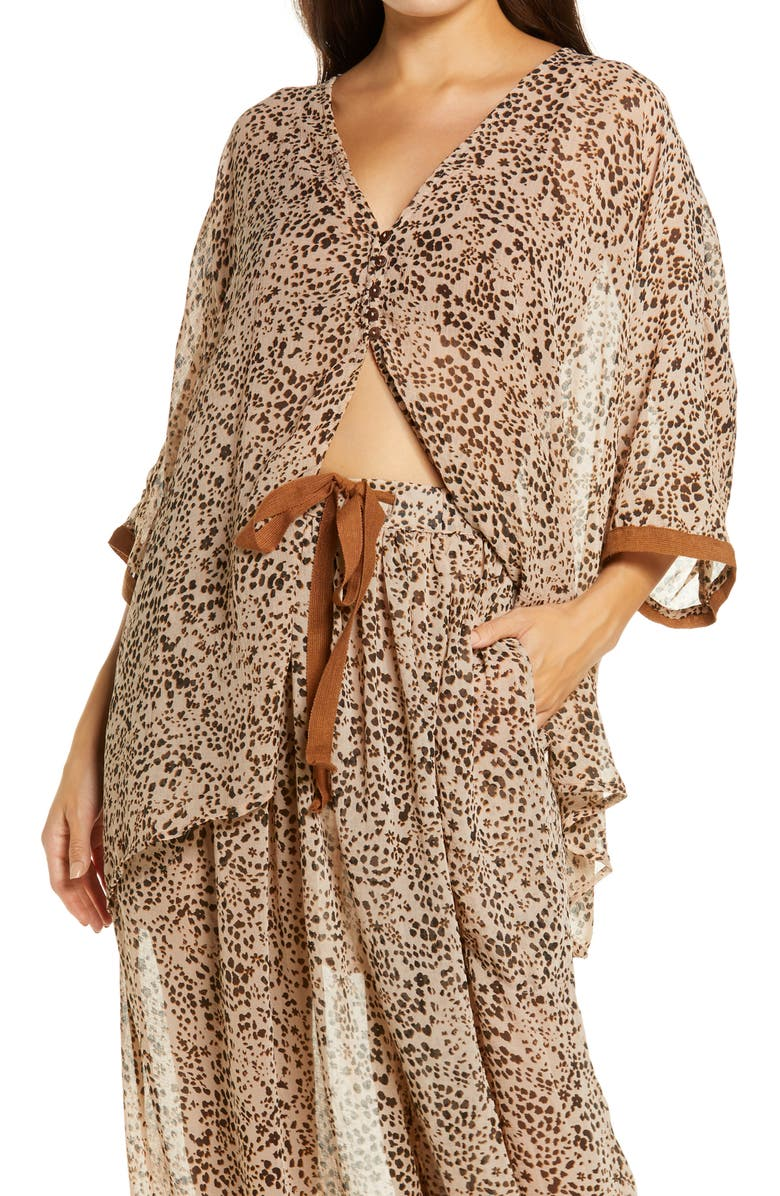 FREE PEOPLE Intimately FP Sleepin In Shirt, Main, color, NATURAL COMBO
