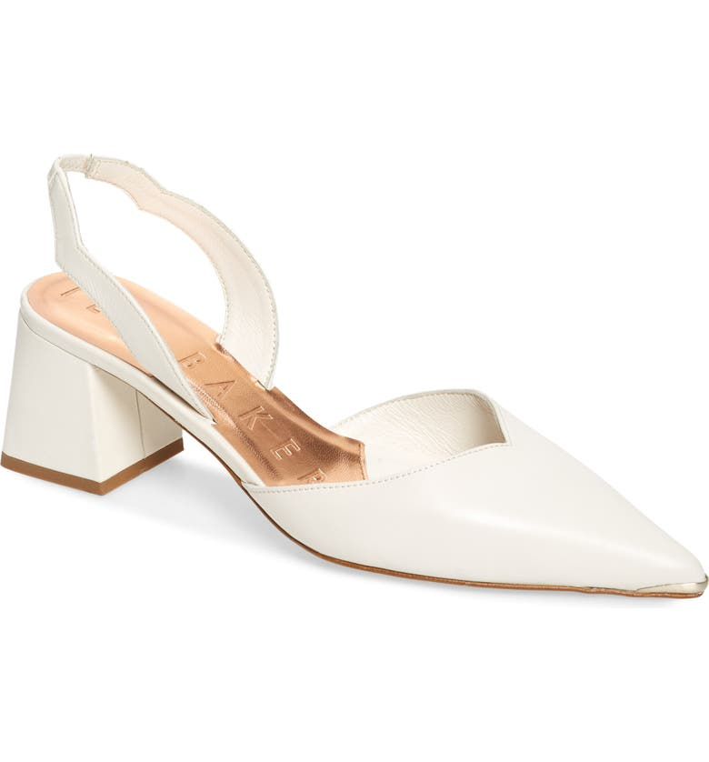 TED BAKER LONDON Mhalil Slingback Pump, Main, color, IVORY LEATHER