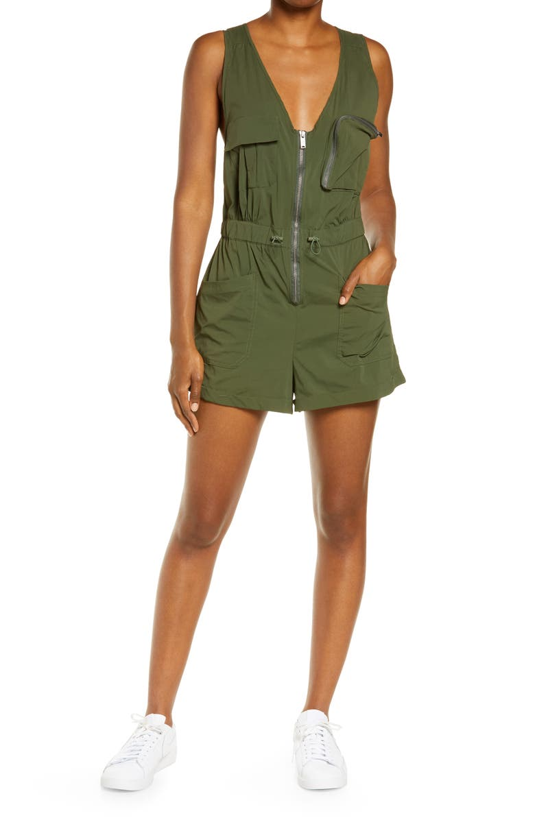 FREE PEOPLE FP MOVEMENT Back on Trek Romper, Main, color, MAYFLY