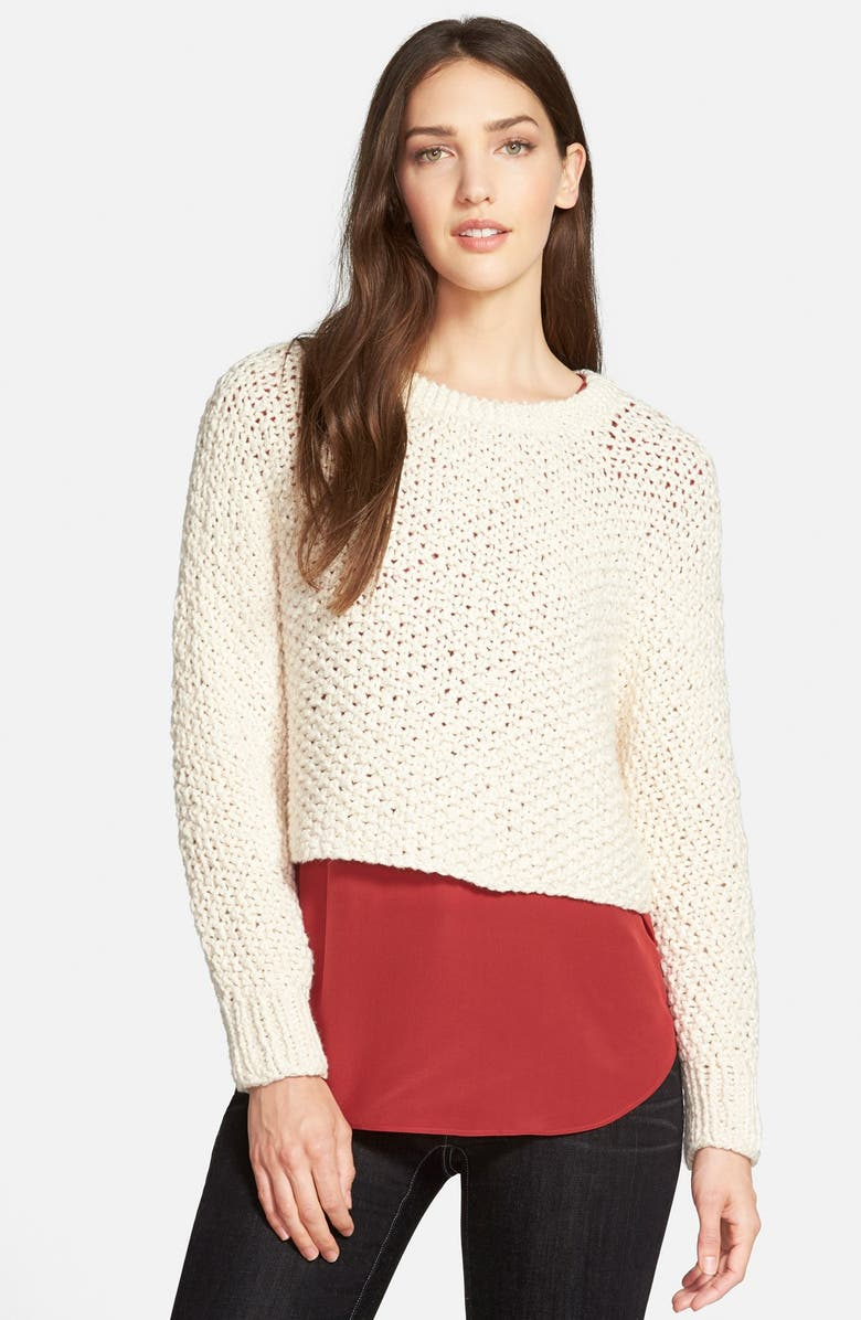 EILEEN FISHER Hand Knit Organic Cotton Top, Main, color, 900