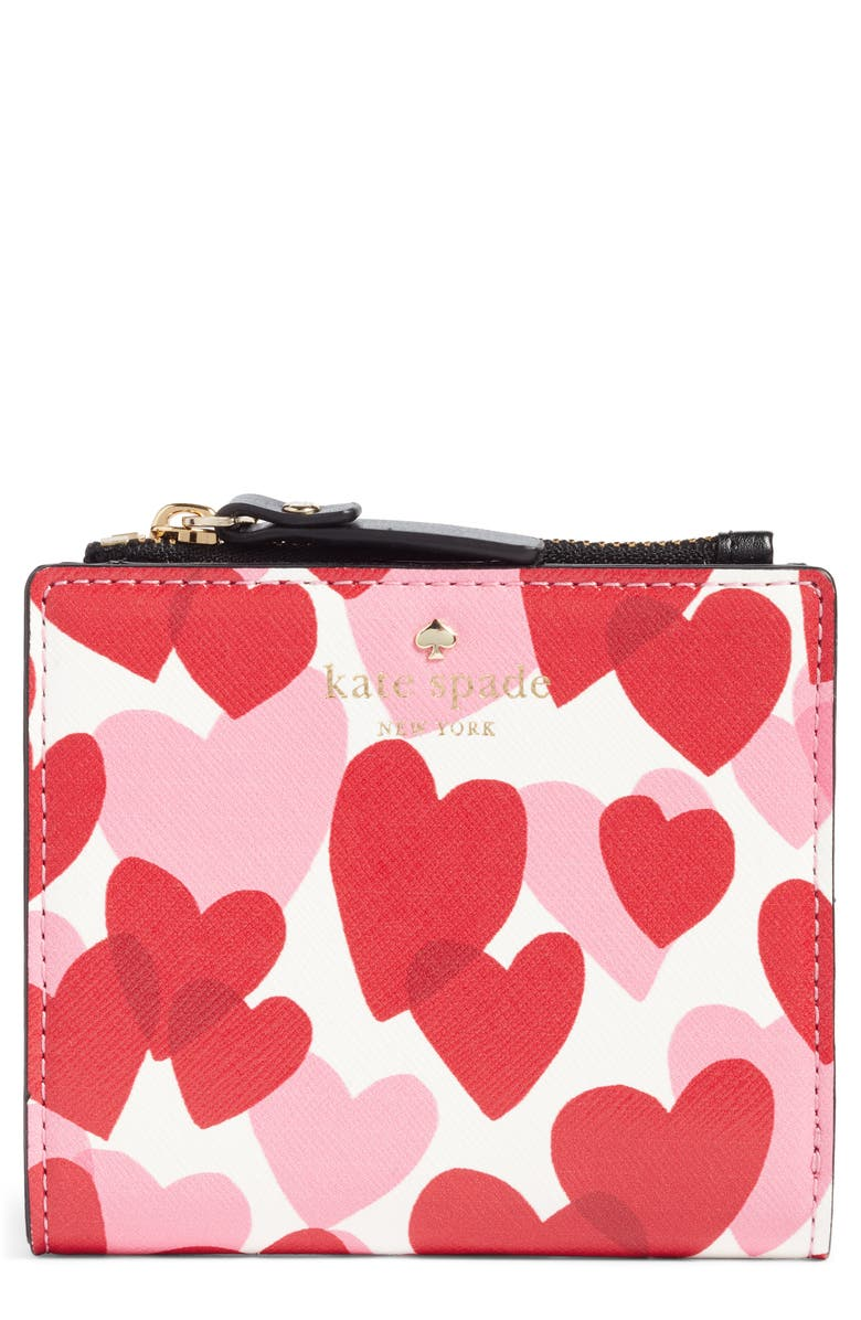 KATE SPADE NEW YORK yours truly adalyn faux leather wallet, Main, color, 100