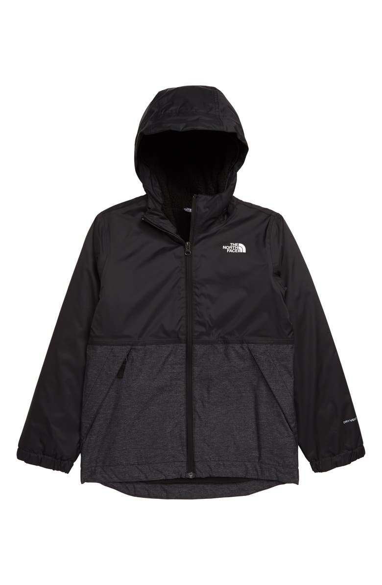 THE NORTH FACE Kids' Warm Storm Hooded Waterproof Jacket, Main, color, GRAPHITE GREY