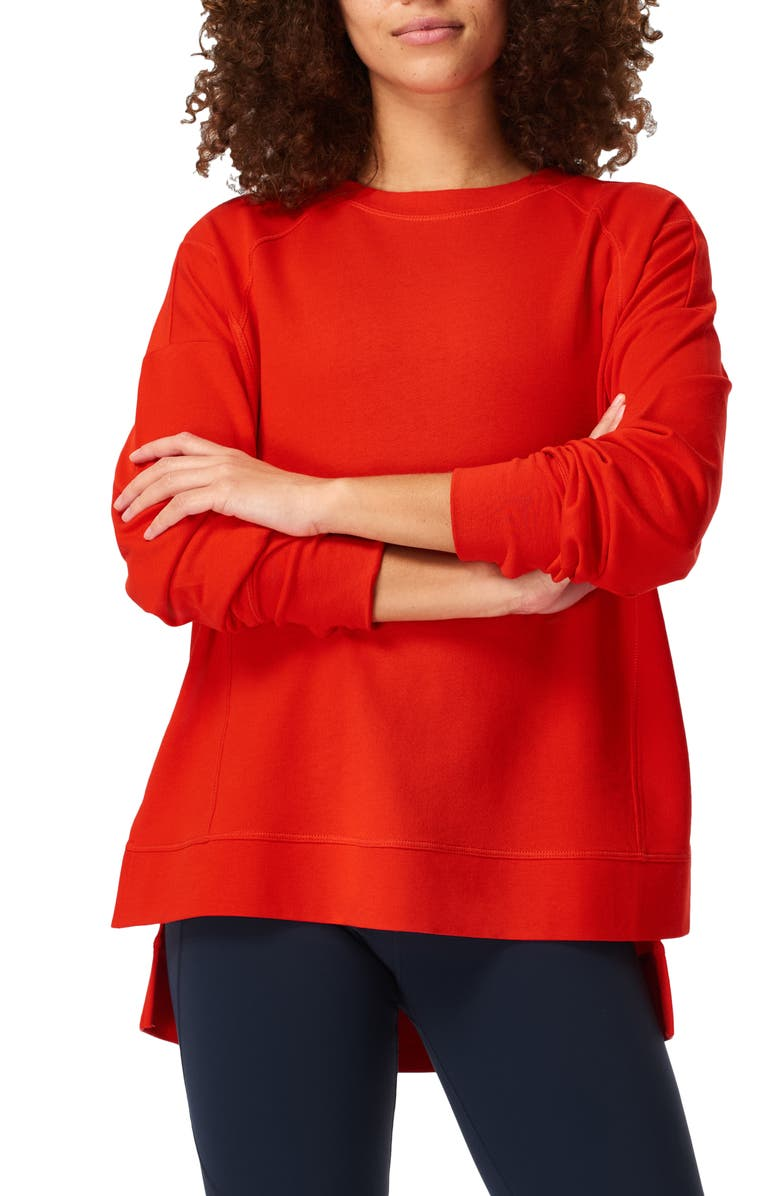 SWEATY BETTY After Class Sweatshirt, Main, color, RICH RED
