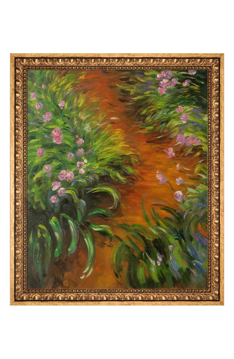 OVERSTOCK ART Irises - Framed Oil reproduction of an original painting by Claude Monet, Main, color, MULTI