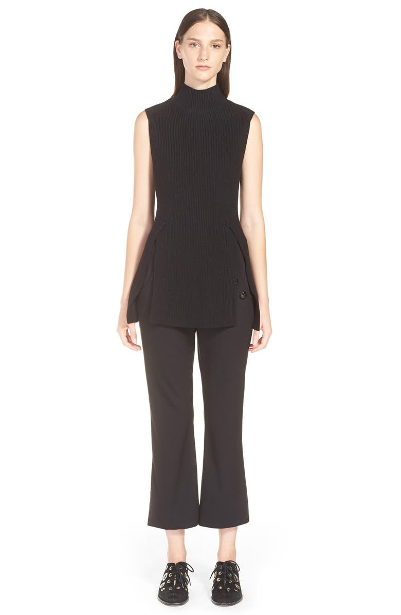 PROENZA SCHOULER Sleeveless Sweater with Slits, Main, color, 001