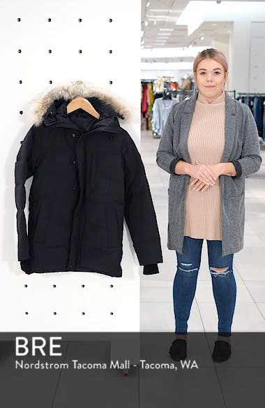'Carson' Slim Fit Hooded Parka with Genuine Coyote Fur Trim, sales video thumbnail