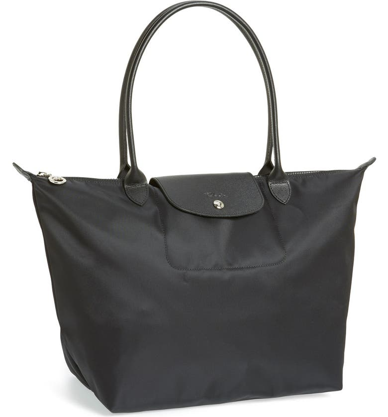 LONGCHAMP 'Large Le Pliage Neo' Nylon Tote, Main, color, 001
