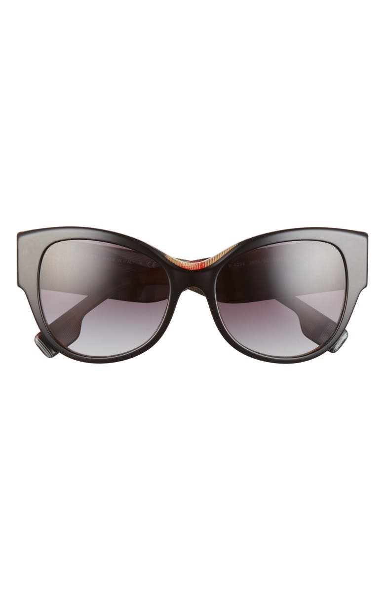 BURBERRY 54mm Butterfly Sunglasses, Main, color, BLACK/ GREY GRADIENT