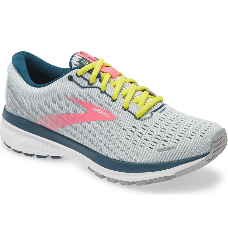 BROOKS Ghost 13 Running Shoe, Main, color, ICE FLOW/ PINK/ POND