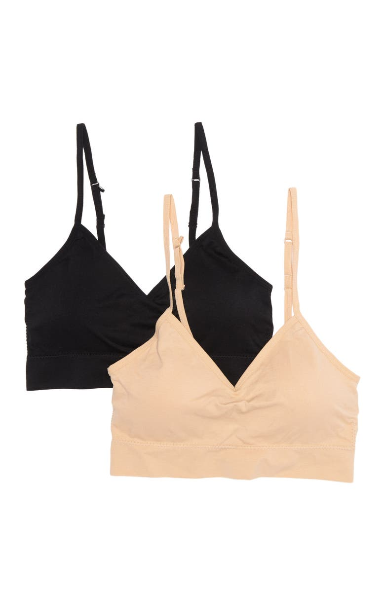ABOUND Taylor Bralette - Pack of 2, Main, color, BEIGE ALMOND MULTI