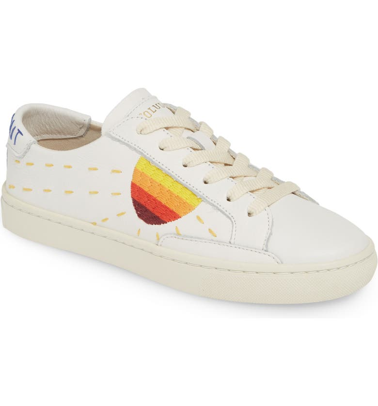 SOLUDOS Peace Out Sun Sneaker, Main, color, White