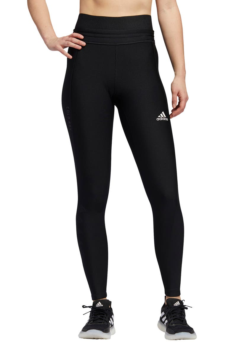 ADIDAS Alphaskin COLD.RDY Compression Tights, Main, color, BLACK