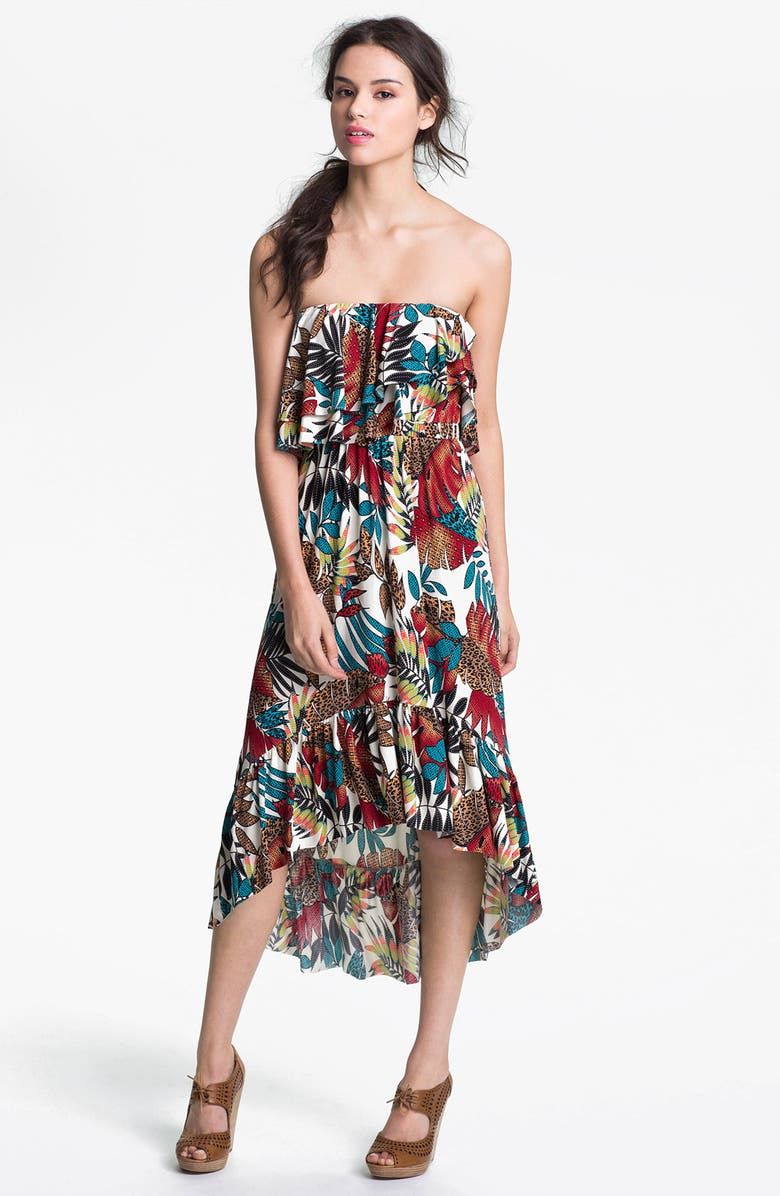 TBAGS LOS ANGELES Print High/Low Dress, Main, color, 200