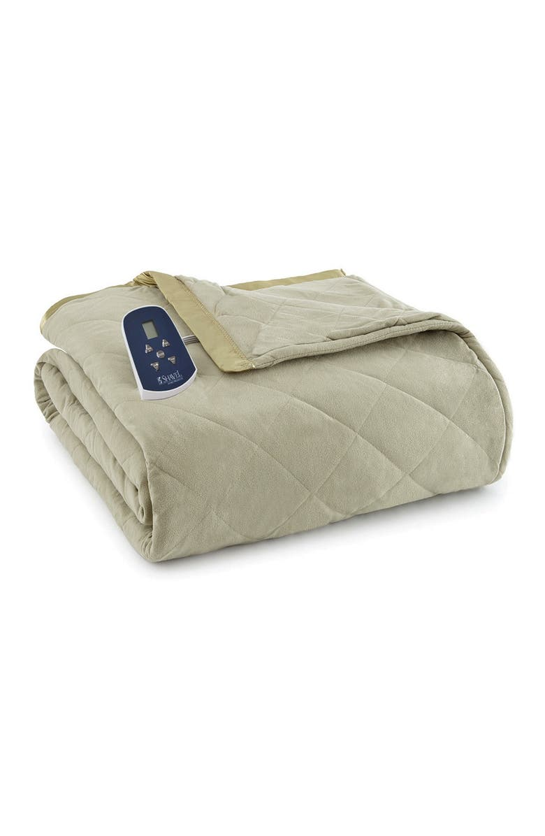 SHAVEL Meadow Micro Flannel Queen Electric Blanket, Main, color, MEADOW
